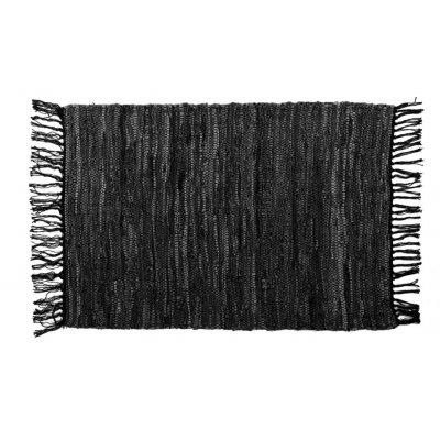 Tapijt nayya zwart leder (60x90cm)