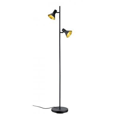 Staanlamp nina zwart/goud (excl. lamp)