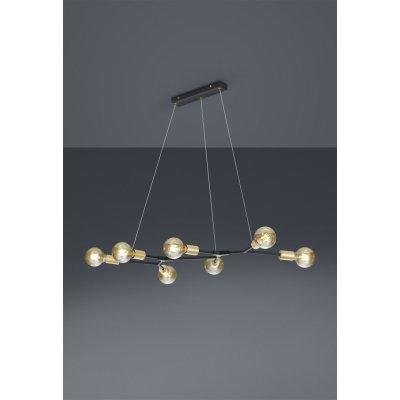 Hanglamp 7 lichtpunten zwart mat