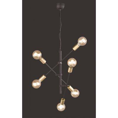 Hanglamp 6 lichtpunten zwart mat