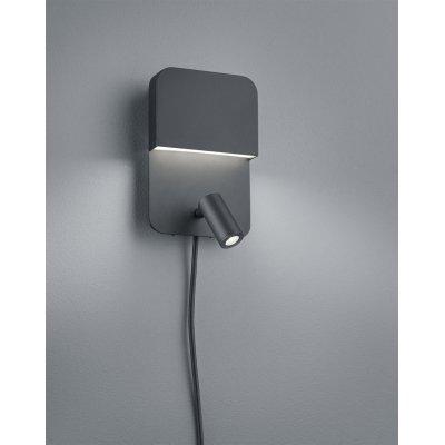 Wandlamp luigi zwart (incl. led)