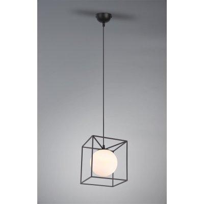 Hanglamp gabbia-1 zwart/wit (excl. lamp)