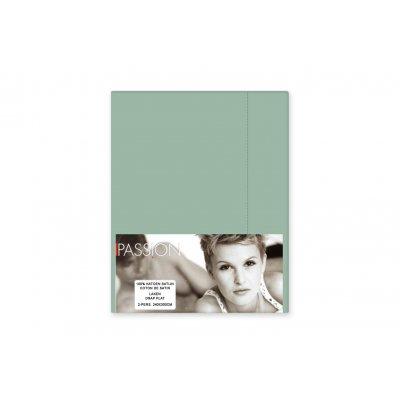 Laken katoensatijn groen 240x300cm