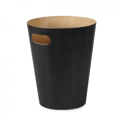 Vuilbak woodrow zwart/naturel