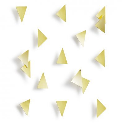 Wanddeco confetti triangles messing