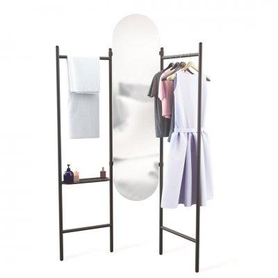 Kledingrek met spiegel