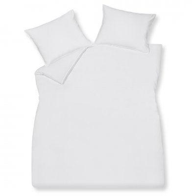 Overtrek tweepersoons washed cotton wit (200x220)