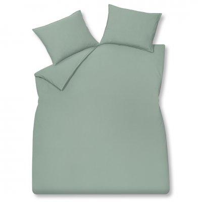 Overtrek tweepersoons washed cotton groen (200x220)