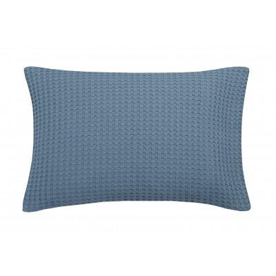 Kussensloop pique vintage blue 40x55cm
