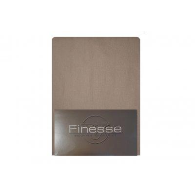 Hoeslaken flanel taupe (180x200)
