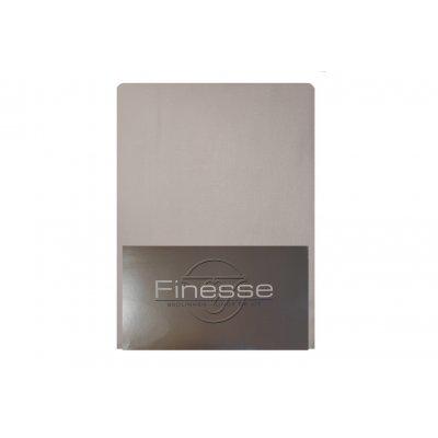 Hoeslaken flanel licht grijs (160x200)