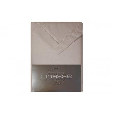 Lakenset met 2 slopen flanel licht grijs  (240x300)