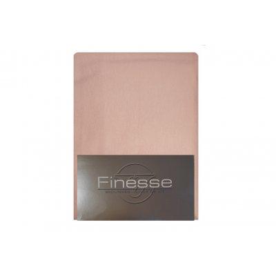 Hoeslaken flanel oud roze (90x200)