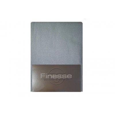 Hoeslaken flanel powder blue (160x200)