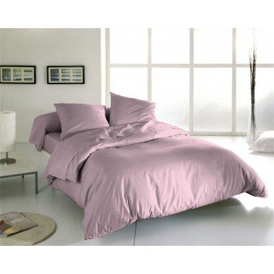 Overtrek eenpersoons uni roze (140x220)