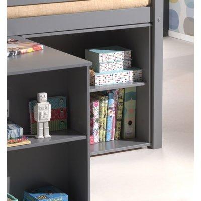Boekenkast voor onder middenslaper grijs pihsbi17