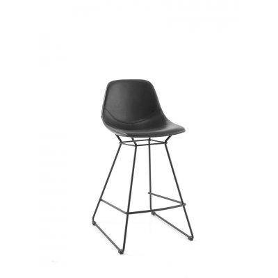 Barstoel met  zwart onderstel (vast)
