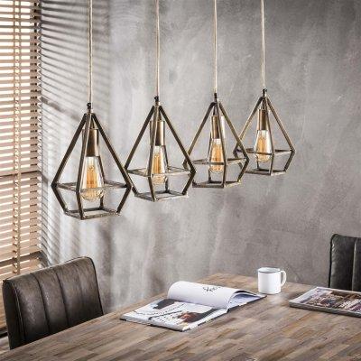 Hanglamp druppel-4 brons  (excl. lamp)