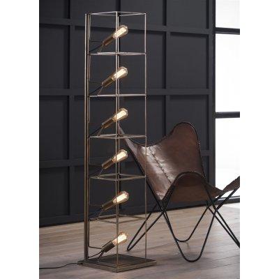 Staanlamp rechthoekoge buis 6xe27 excl lampen led mogelijk