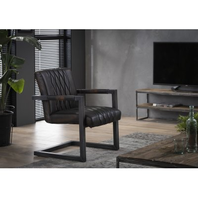 Fauteuil donkerbruin
