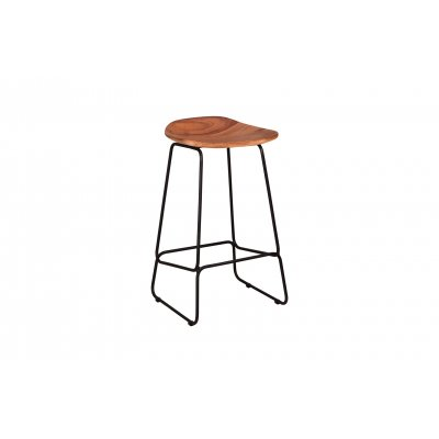 Barstoel met houten zit